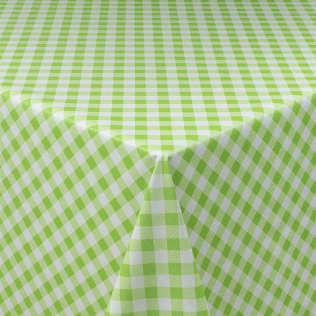 Tern Struktur Grøn/hvid, voksdug med tern og let præget overflade