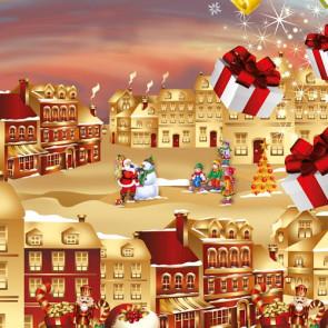 Julevoksdug - Julemanden i byen, 140 cm bred
