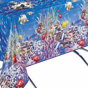 Voksdug med fisk i vandet