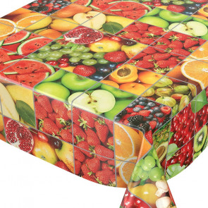 Multifrugt-paletten, voksdug med masser af frugt